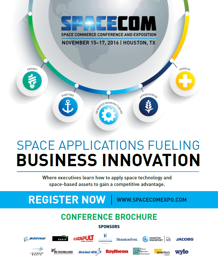 f3646bfeb0 Conference Brochure - SpaceCom 2019